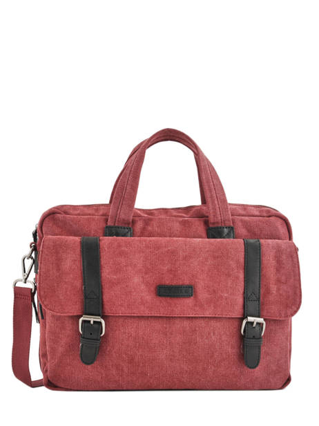 Porte-documents 1 Compartiment + Pc 15'' Etrier Rouge canvas ECAN01