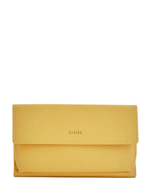 Continental Wallet Leather Etrier Yellow blanco 600903
