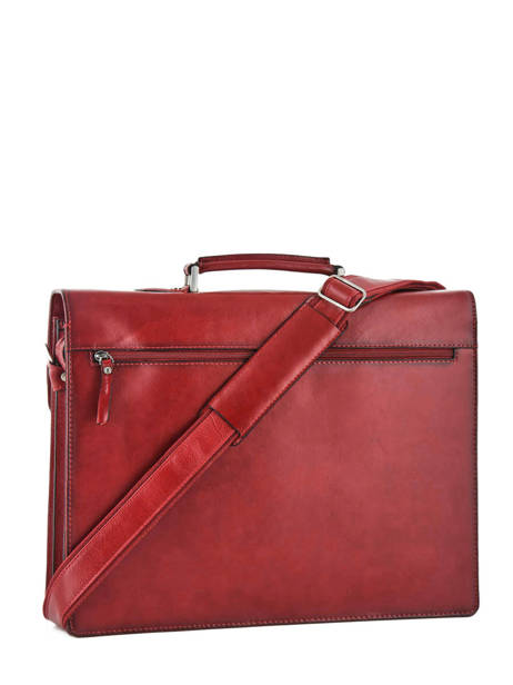 Briefcase 3 Compartments Etrier Red ECRO01 other view 3