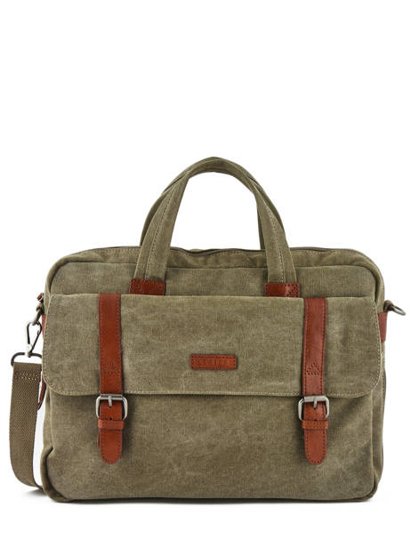 Briefcase 1 Compartment + 15'' Pc Etrier Brown canvas 6587