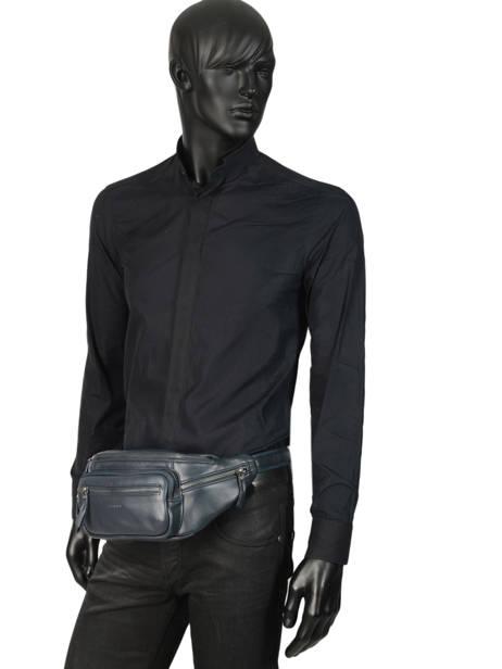 Leather Bum Bag Foulonné Etrier Blue foulonne EFOU10 other view 3