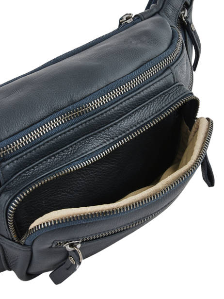 Leather Bum Bag Foulonné Etrier Blue foulonne EFOU10 other view 5