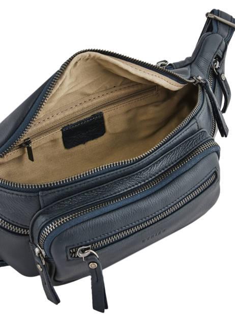 Leather Bum Bag Foulonné Etrier Blue foulonne EFOU10 other view 6