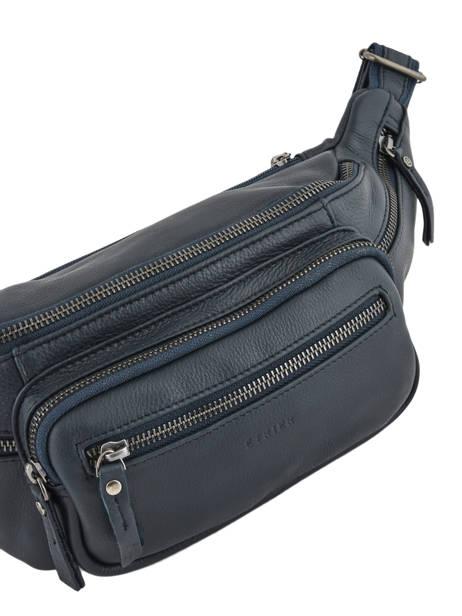 Leather Bum Bag Foulonné Etrier Blue foulonne EFOU10 other view 1