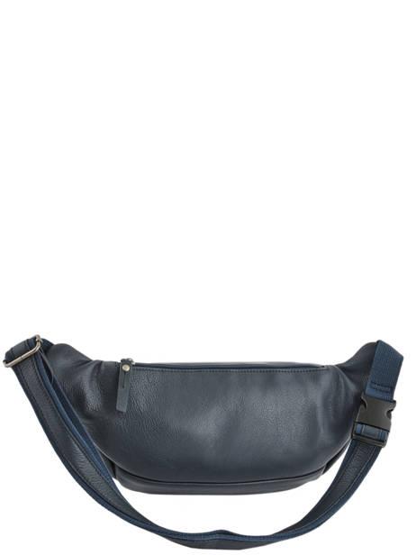Leather Bum Bag Foulonné Etrier Blue foulonne EFOU10 other view 4