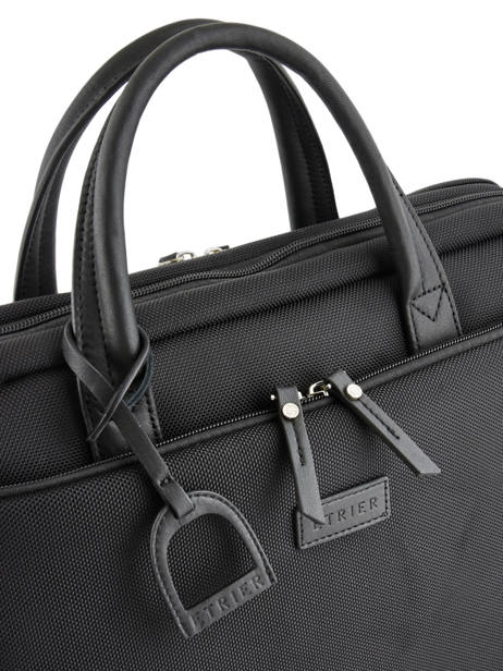 Briefcase Light 3 Compartments Etrier Black light ELIG03 other view 1