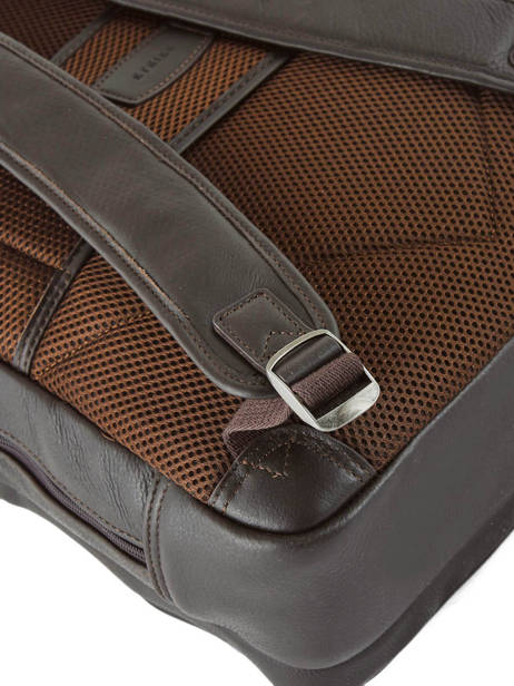 Leather Foulonné Business Backpack 2 Compartments Etrier Brown foulonne EFOU03 other view 1