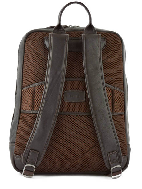 Leather Foulonné Business Backpack 2 Compartments Etrier Brown foulonne EFOU03 other view 3