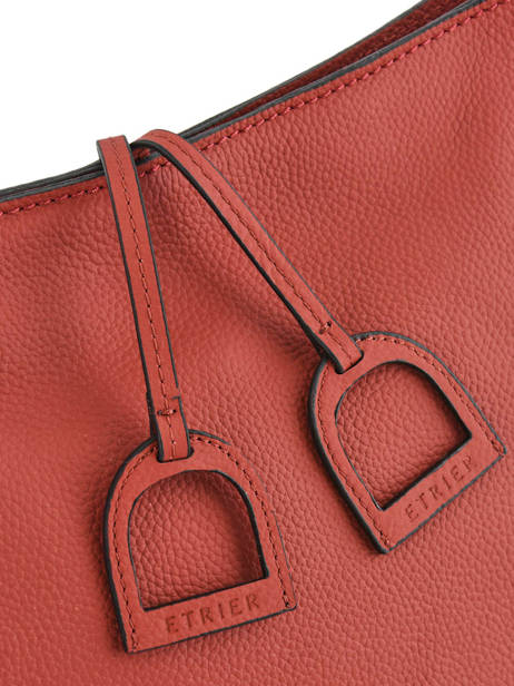 Cross Body Tas Tradition Leder Etrier Rood tradition EHER3A ander zicht 1