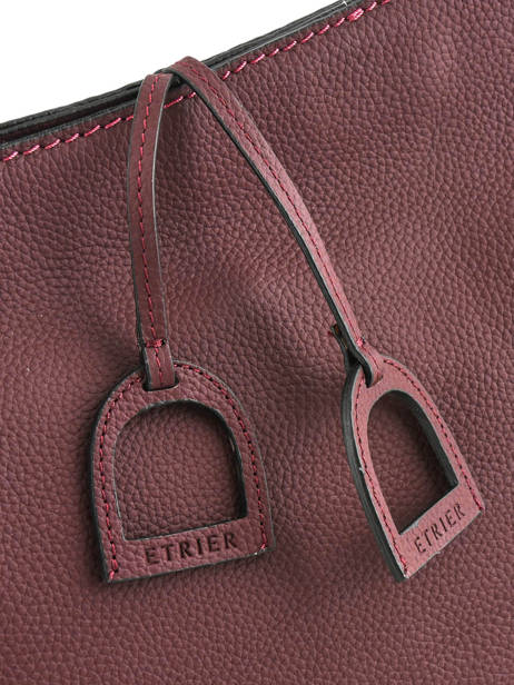 Crossbody Bag Tradition Leather Etrier Violet tradition EHER2A other view 1
