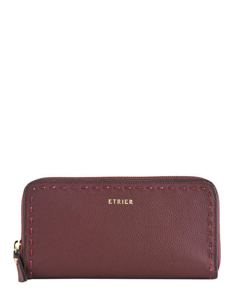 Wallet Leather Etrier Violet tradition EHER91