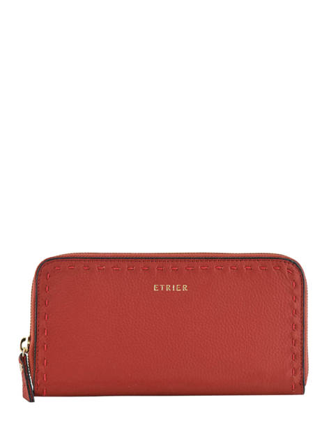 Wallet Leather Etrier Red tradition EHER91