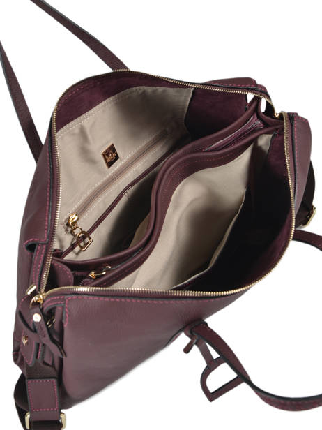 Leather Tradition Briefcase Etrier Violet tradition EHER81 other view 4
