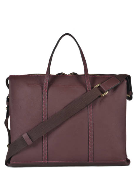 Leather Tradition Briefcase Etrier Violet tradition EHER81 other view 3