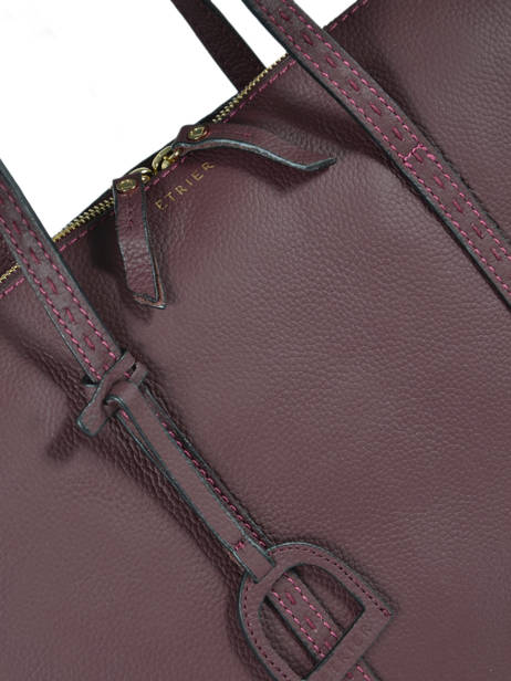 Leather Tradition Briefcase Etrier Violet tradition EHER81 other view 1