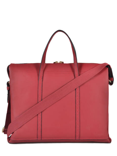 Leather Tradition Briefcase Etrier Red tradition EHER81 other view 3