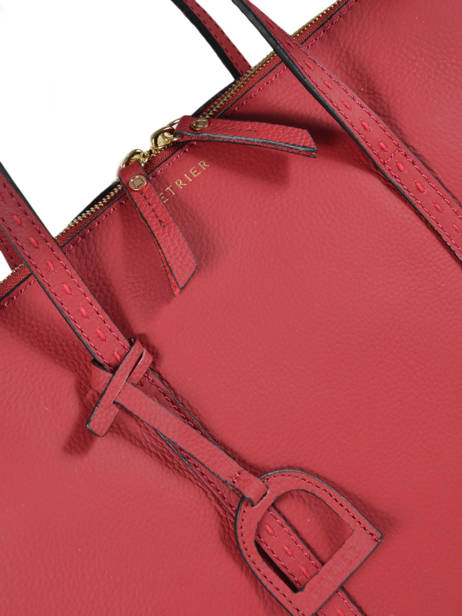 Leather Tradition Briefcase Etrier Red tradition EHER81 other view 1