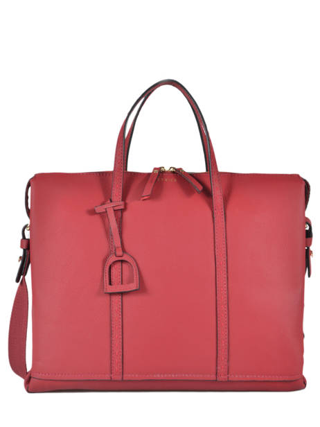 Leather Tradition Briefcase Etrier Red tradition EHER81