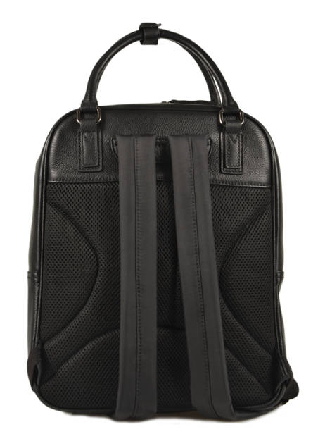 Leather Manhattan Business Backpack Etrier Black EMAN13 other view 3