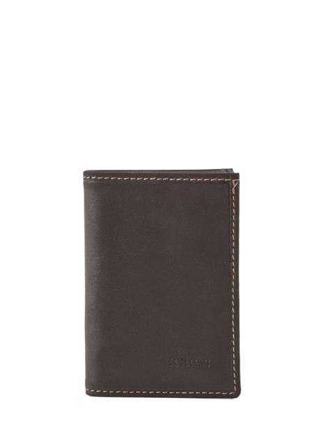 Card Holder Leather Etrier Green oil EOIL013