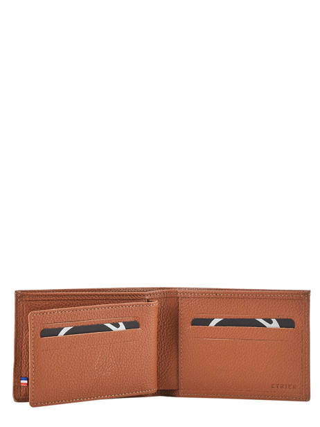 Wallet Madras Leather Etrier Brown madras EMAD440 other view 2