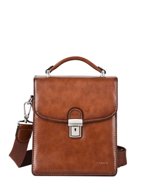 Messenger Bag 2 Compartments Etrier Brown ECRO05 other view 1