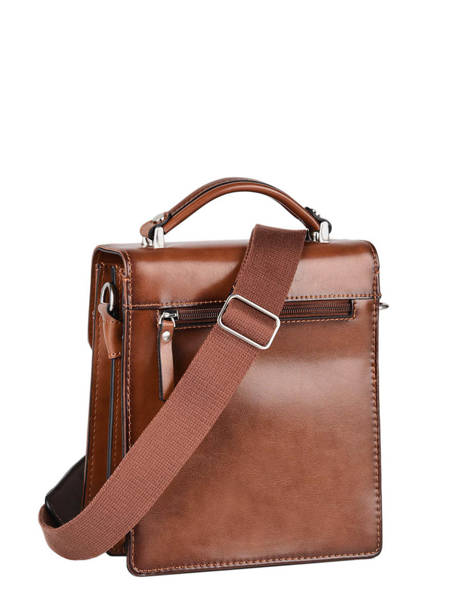 Messenger Bag 2 Compartments Etrier Brown ECRO05 other view 4