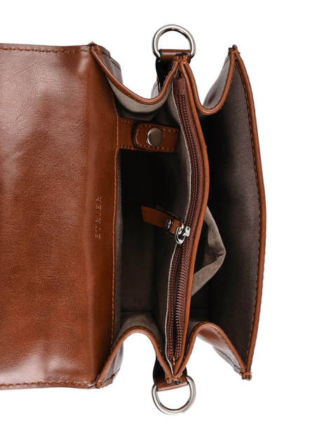 Messenger Bag 2 Compartments Etrier Brown ECRO05 other view 5