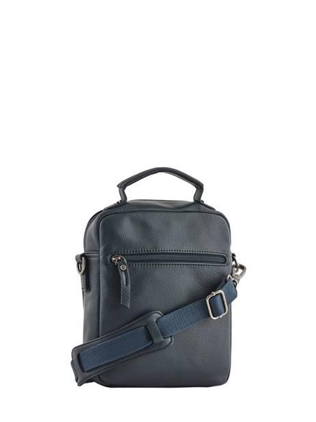 Leather Crossbody Bag Foulonné Etrier Blue foulonne EFOU07 other view 3