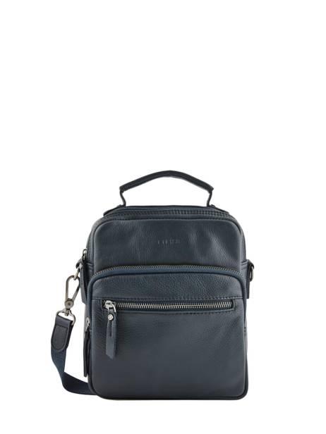 Leather Crossbody Bag Foulonné Etrier Blue foulonne EFOU07