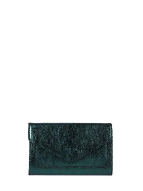Porte-monnaie Cuir Etrier Bleu etincelle irisee EETI469
