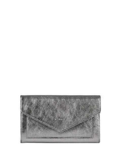 Porte-monnaie Cuir Etrier Argent etincelle irisee EETI701