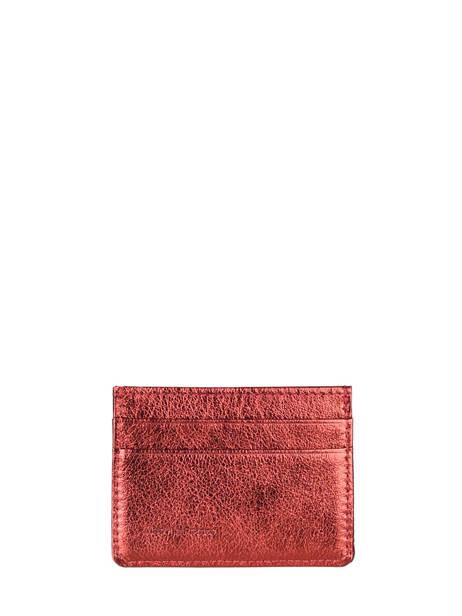 Porte-cartes Cuir Etrier Rouge etincelle irisee EETI011 vue secondaire 2