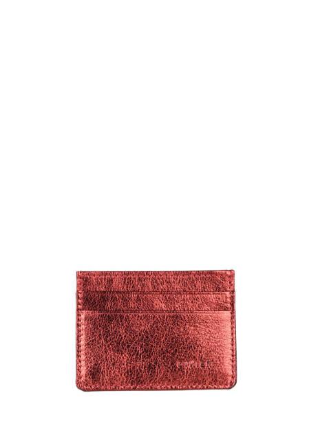 Porte-cartes Cuir Etrier Rouge etincelle irisee EETI011