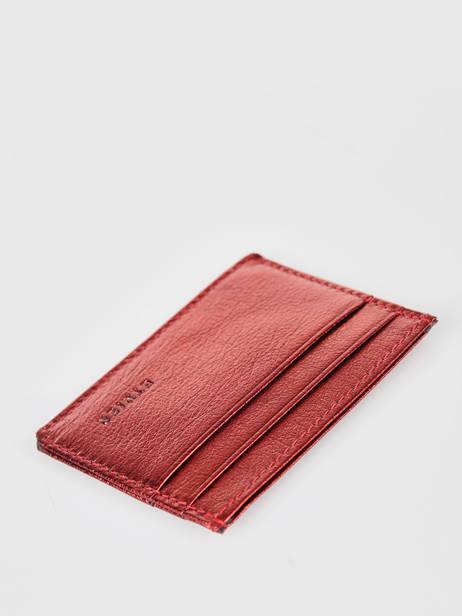 Porte-cartes Cuir Etrier Rouge etincelle irisee EETI011 vue secondaire 1