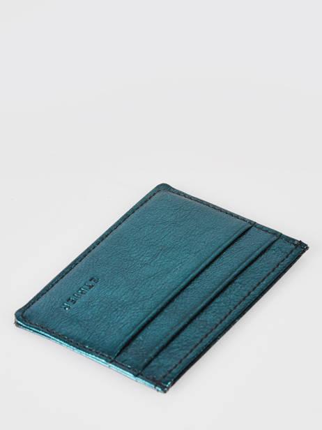 Porte-cartes Cuir Etrier Bleu etincelle irisee EETI011 vue secondaire 1