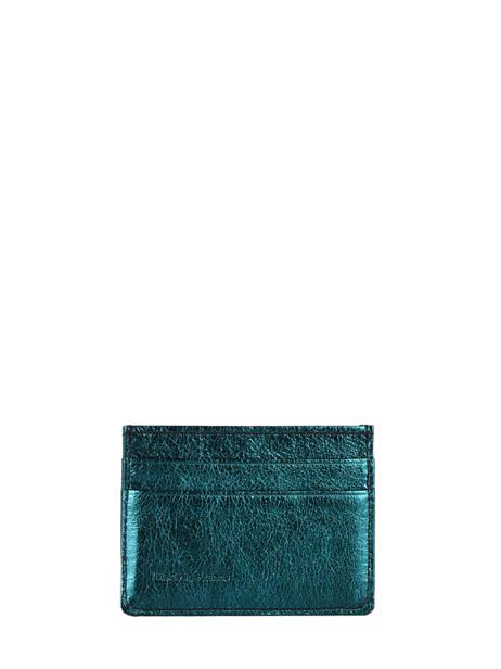 Porte-cartes Cuir Etrier Bleu etincelle irisee EETI011 vue secondaire 2