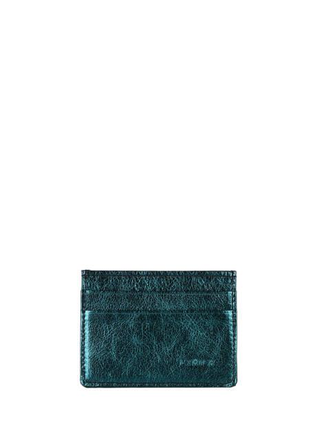 Porte-cartes Cuir Etrier Bleu etincelle irisee EETI011